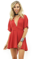 West Coast Wardrobe Pure Heart Mini Dress in Brick Red