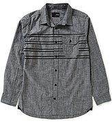 Hurley Chest-Stripe Long-Sleeve Woven Shirt