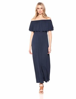 28 Palms Women's Off Shoulder Maxi Dress
