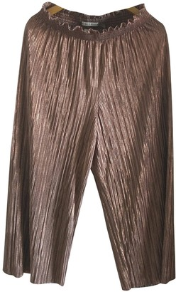 Alice + Olivia Gold Trousers for Women