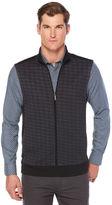 Perry Ellis Diamond Jacquard Full Zip Vest