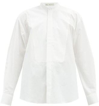 Umit Benan B+ - Stand-collar Cotton-poplin Shirt - White