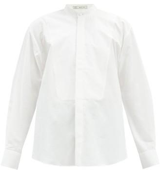 Umit Benan B+ - Stand-collar Cotton-poplin Shirt - White