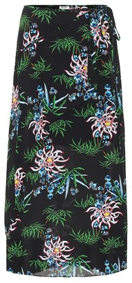 Kenzo Floral midi skirt