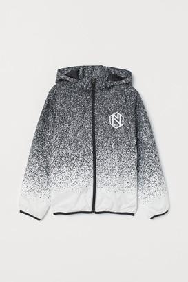 H&M Hooded Windbreaker - White