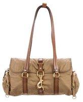 Miu Miu Leather-Trimmed Nylon Shoulder Bag