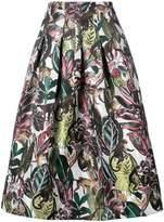 Oscar de la Renta jungle print midi skirt