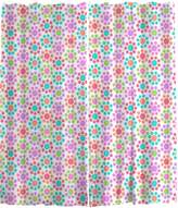 Uneekee Floral Colors Sheer Curtains: Wide and Extra Long
