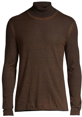 John Varvatos Slim-Fit Silk & Cashmere Turtleneck