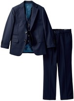 AXNY Three Piece Textured Gingham Suit Set (Toddler, Little Boys, & Big Boys)