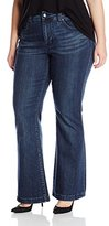 Melissa McCarthy Women's Plus-Size Slim Flare M Pocket