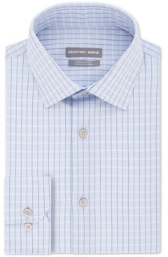 Geoffrey Beene Men's Classic/Regular Fit Non-Iron Dress Check Dress Shirt