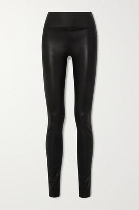 Sprwmn Zip-detailed Leather Leggings - Black