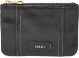 Fossil Ellis Leather Zip Coin Purse