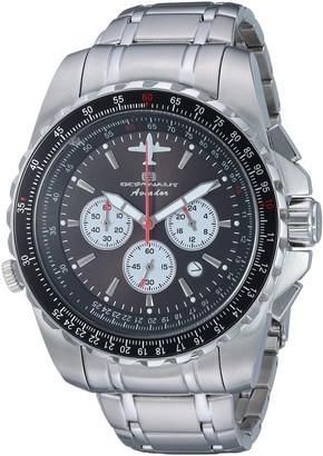 Oceanaut Men's Aviador Pilot Stainless Steel Quartz Watch with Stainless-Steel Strap