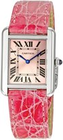 Cartier Women's W5200000 Tank Solo Pink Leather Strap Watch