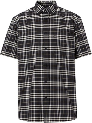 Burberry Check Pattern Shirt