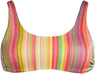 PQ Side-Ring Striped Bikini Top