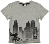 Molo Skyline & Skater Jersey Tee, Gray, Size 4-12