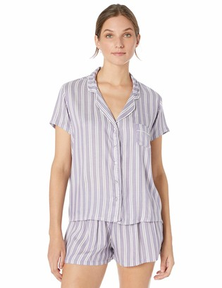 Splendid Women's Classic Rayon Sleeve Top and Short Pajama Set PJ