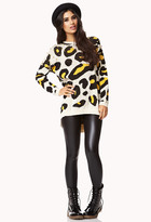 Forever 21 Spiked Wild Leopard Sweater
