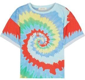 Alice + Olivia Evan Tie-dyed Cotton-jersey T-shirt
