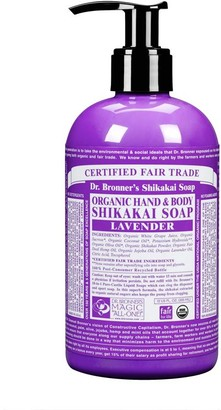 Dr. Bronner's Organic Shikakai Lavender Hand & Body Soap 355Ml