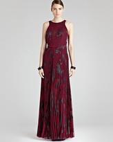 Reiss Maxi Dress - Kerensa Pleated Print
