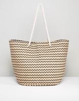 Vero Moda Zig Zag Beach Bag