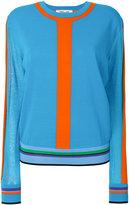Diane von Furstenberg stripe detail sweater - women - Cotton/Nylon - 4