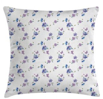"""East Urban Home Indoor / Outdoor Floral 40"""" Throw Pillow Cover East Urban Home"""