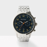 Paul Smith Men's Petrol And Silver 'Precision' Chronograph Watch
