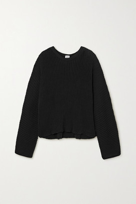 Base Range Kai Ribbed Organic Cotton Sweater - Black