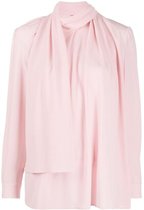 Alexander McQueen Scarf-Style Long-Sleeved Blouse