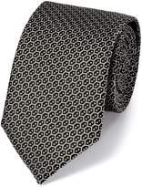 Charles Tyrwhitt Black Silk Wire Lattice Classic Tie Size OSFA
