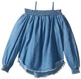 Hudson Chambray Smocked Top Girl's Clothing