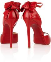 Christian Louboutin Noeud 120 bow-embellished leather peep-toe pumps