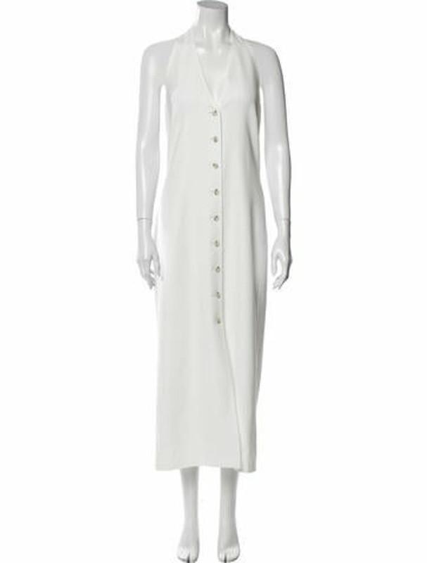 ADEAM V-Neck Long Dress w/ Tags White