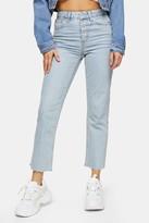 Topshop Bleach Popper Straight Jeans