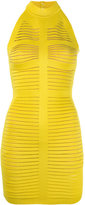 Balmain halterneck dress - women - Polyamide/Spandex/Elastane/Viscose - 36