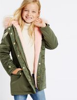 Marks and Spencer Faux Fur Zip Through Parka (3-14 Years)