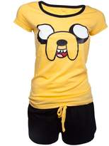 Official Womens Adventure Time Jake Character Shortama Pyjama Set - Ladies