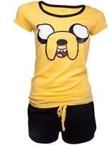 Official Womens Adventure Time Jake Character Shortama Pyjama Set - Ladies