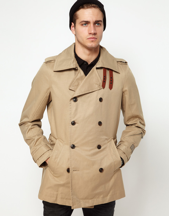 Diesel Trench Coat Double Breasted Javelins