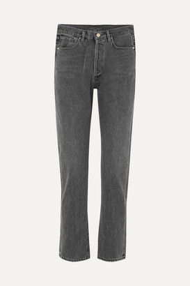 Gold Sign Benefit High-rise Straight-leg Jeans - Charcoal