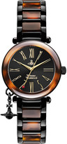 Vivienne Westwood VV006BKBR Time Machine faux-tortoiseshell watch