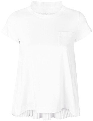 Sacai pleated back T-shirt