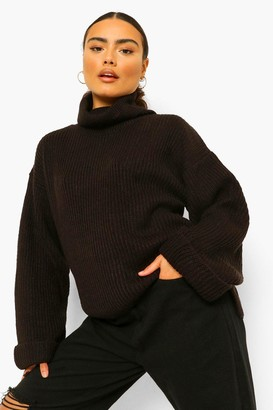 boohoo Roll Neck Turn Up Cuff Jumper