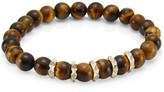 Sydney Evan Pyramid 14K Yellow Gold, Eternity Tiger Eye & Diamond Spike Combo Bracelet