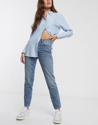 Selected straight leg authentic denim jeans-Blue